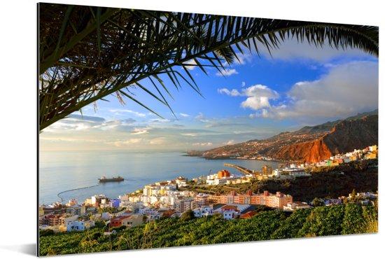Foto vanaf Punta del Hidalgo van Santa Cruz Aluminium 120x80 cm - Foto print op Aluminium (metaal wanddecoratie)