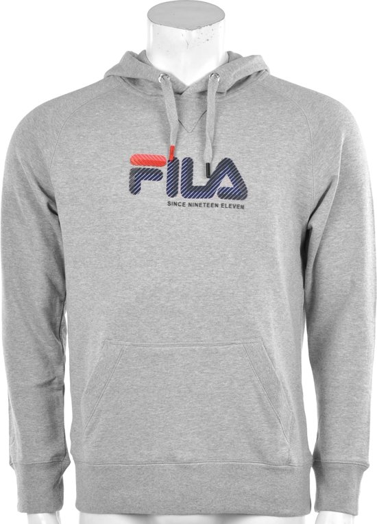 d4d7b160e81 bol.com | Fila Hooded Fleece Diadem - Sporttrui - Heren - Maat S - Grijs