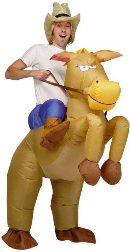 Cowboy Paard zelf opblaasbaar kostuum
