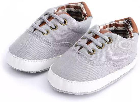 48afd1fae4c Babyschoentjes   Grijs   Maat 19   voor uw kleine jongen   Stoere baby  canvas schoentjes