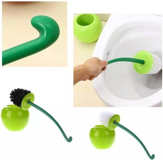 WC-borstel Toiletborstel Groene Appel met witte borstel
