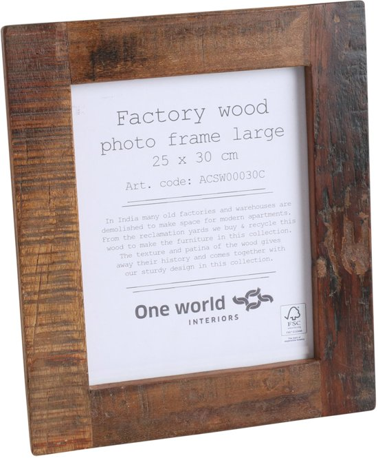 Wandplank Voor Fotolijstjes.Bol Com One World Interiors Factory Fotolijst 30x35cm