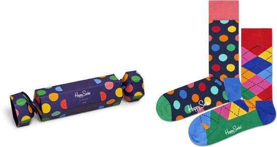 Happy Socks Cracker Big Dot Giftbox - Maat 41-46