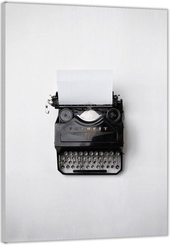 Plexiglas –Typmachine op een witte achtergrond– 60x90cm Foto op (Wanddecoratie op Plexiglas)