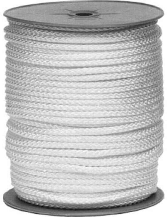Koord wit nylon 4mm rol = 100m (100 meter)