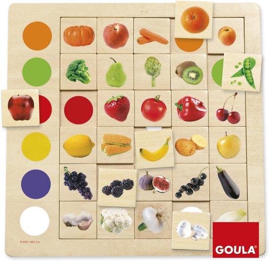 Afbeelding van het spel Houten puzzel fruit Kleuren leren kennen