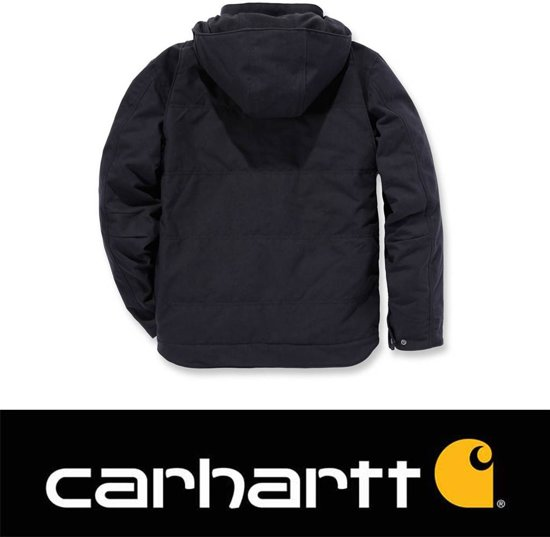 Jacket Heren Carhartt Winterjas Zwart Livingston Quick Duck qxTvwgOSt