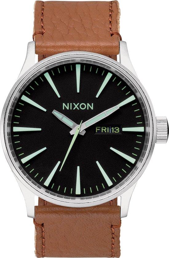 Nixon Sentry Leather Horloge