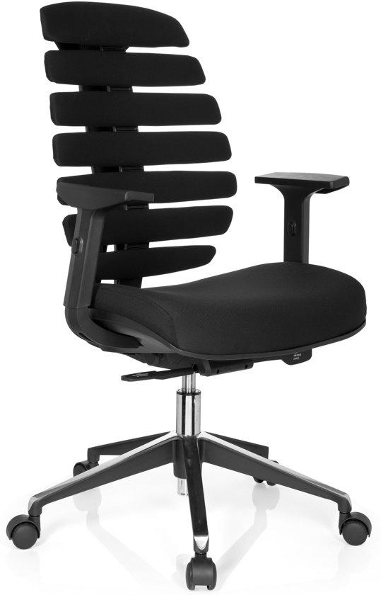 hjh office Ergo Line II - Bureaustoel - Stof - Zwart