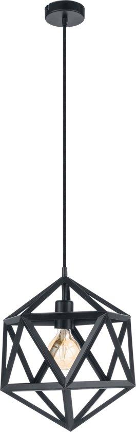 EGLO Vintage Embleton Hanglamp - 1 Lichts - Zwart