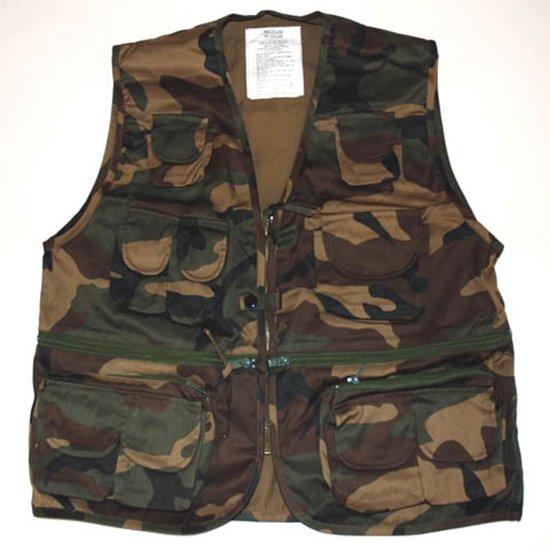 Fostex Camo Vest bodywarmer Survival Woodland rIw6qxr4