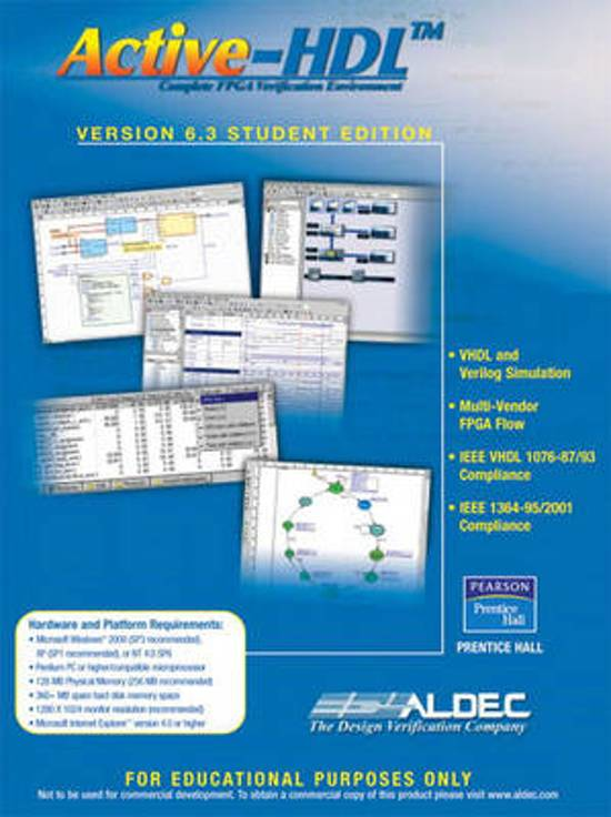 Active-hdl 6. 3 student edition: aldec inc. : 9780131866973: books.