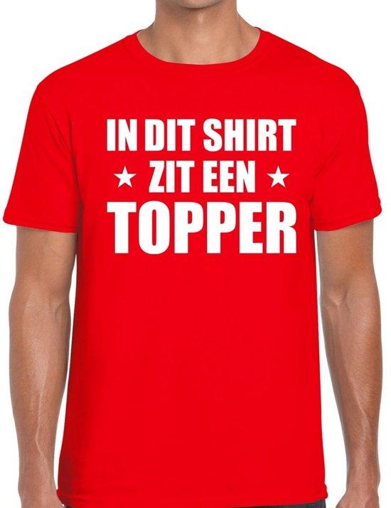 In dit shirt zit een Topper t-shirt rood voor heren 2XL