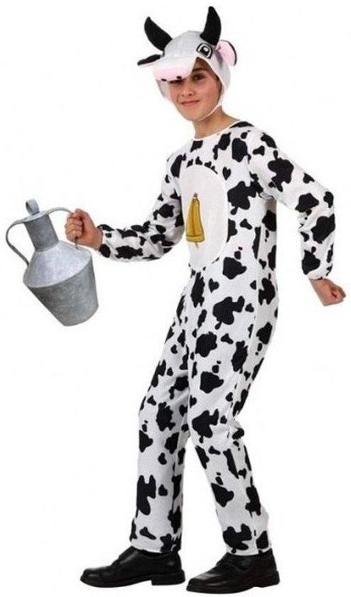 Dierenpak koe/koeien verkleed onesie/kostuum voor kinderen - carnavalskleding - voordelig geprijsd 116 (5-6 jaar)