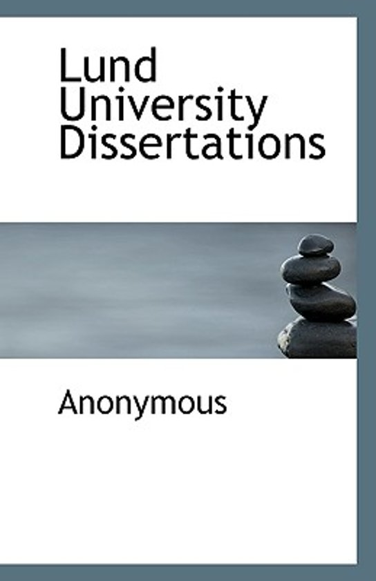 Lund University Dissertations