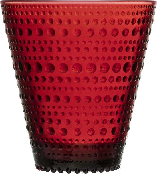 Iittala Kastehelmi Glas - 30 cl - Cranberry - 2 Stuks