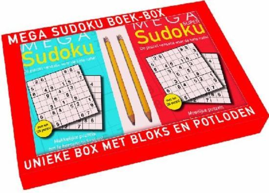 Cover van het boek 'Mega sudoku Boek-box'