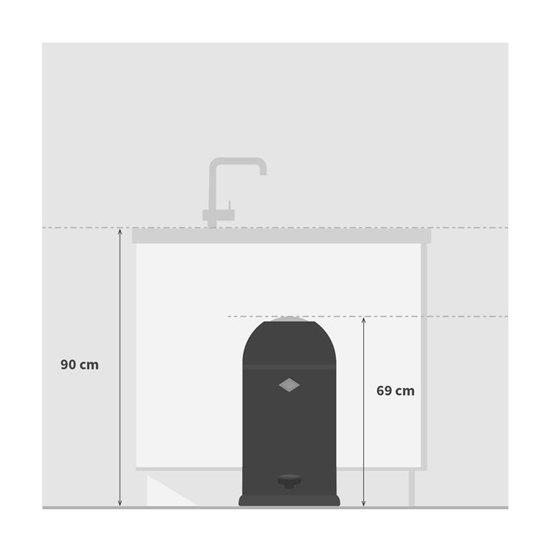 Wesco Liftmaster 40 Liter Rood.Wesco Kickmaster Soft Close 33 L Roze