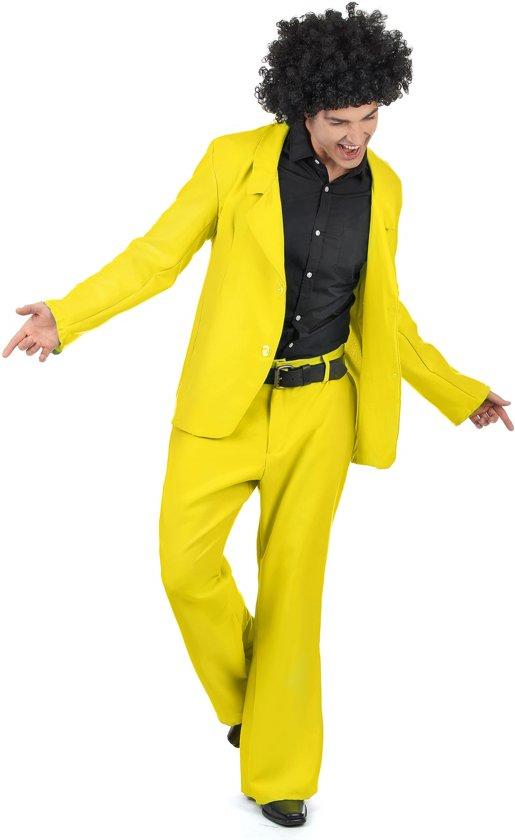 Kostuum Heren.Geel Disco Kostuum Voor Heren Volwassenen Kostuums