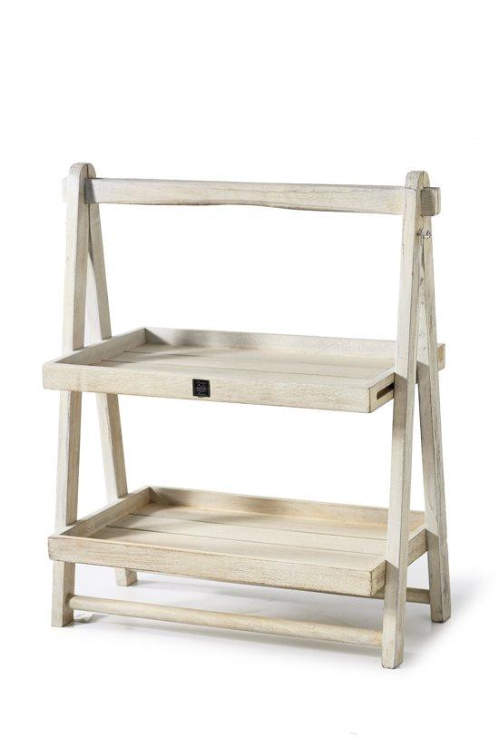 riviera maison clooney bay etag re decoratief dienblad hout whitewash. Black Bedroom Furniture Sets. Home Design Ideas