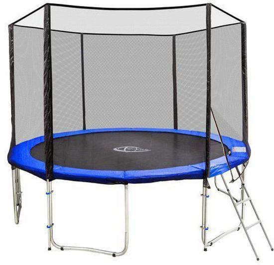 trampoline outdoor tuintrampoline met veiligheids net en ladder 366 cm 12 ft 401333. Black Bedroom Furniture Sets. Home Design Ideas