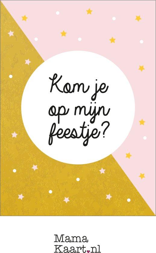 Uitnodigingen feestje - meisje - MamaKaart.nl