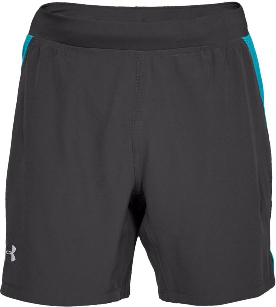 Under Armour Speedpocket Swyft 7'' Short Sportbroek Heren - Charcoal - Maat S