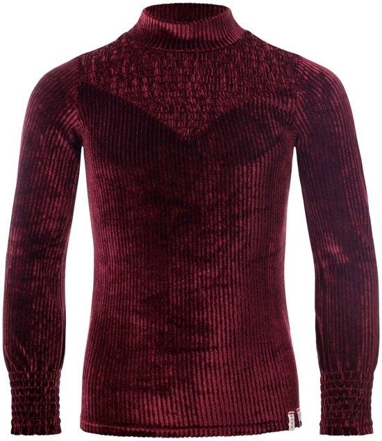 Looxs Revolution - Fancy ruby top in ribfluweel - Maat 140