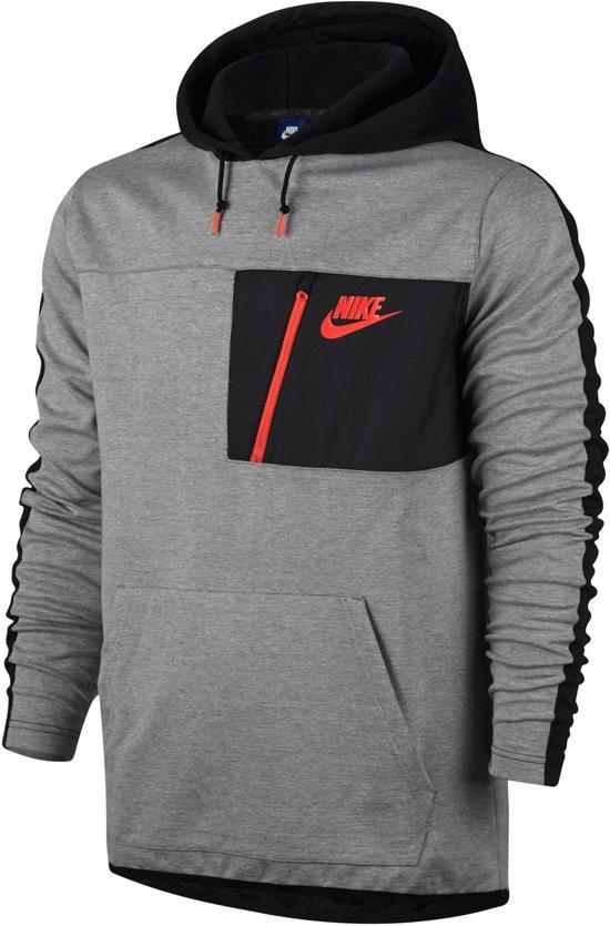 2876be478a4 Nike Sportswear Advance 15 Sweater Sporttrui - Maat L - Heren - grijs/zwart/