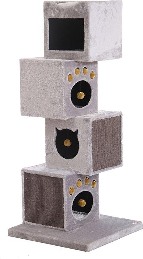 Nobby krabmeubel veneto blokken lichtgrijs 60 x 60 x 145 - 1 st