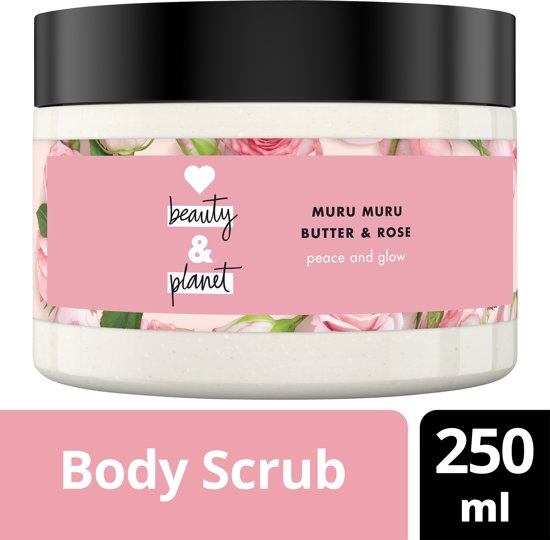 Love Beauty and Planet Body Scrub Peace and Glow - 225 ml - Muru Muru Butter & Rose Oil
