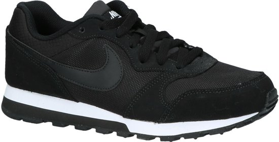 Nike MD Runner 2 Sneakers Dames - Black/Black-White