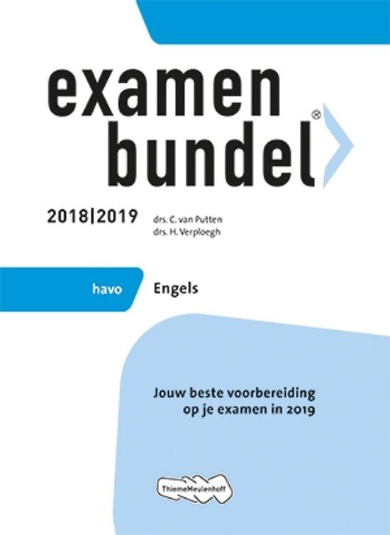 Boek cover Examenbundel havo Engels 2018/2019 van  (Paperback)