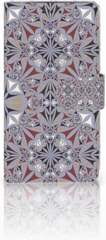 LG Q6 | LG Q6 Plus Boekhoesje Design Flower Tiles