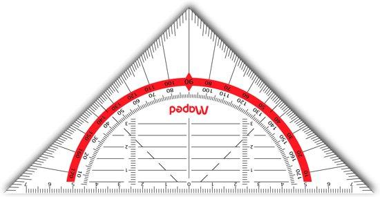 Geo-flex geodriehoek 16 cm - flexibel