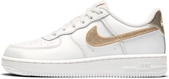 Nike Air Force 1 PS Wit goud Meisjes 33