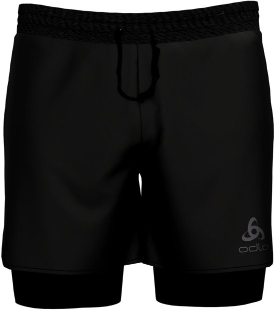 Odlo 2-In-1 Shorts Millennium Linencool Pro Sportbroek Heren - Black/black