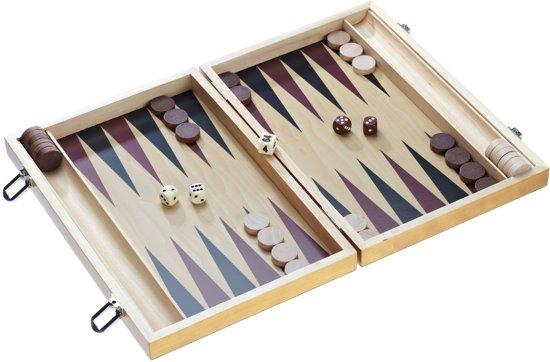 Afbeelding van het spel Backgammon houten koffer - Philos 1180