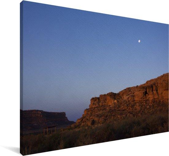 Mooie zonsopgang bij de ruïnes in het Nationaal park Chaco Canvas 90x60 cm - Foto print op Canvas schilderij (Wanddecoratie woonkamer / slaapkamer)