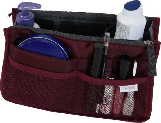 126d3d8579e bol.com | Bag in Bag Tas Organizer 11 vakken en ritssluiting - Wijnrood