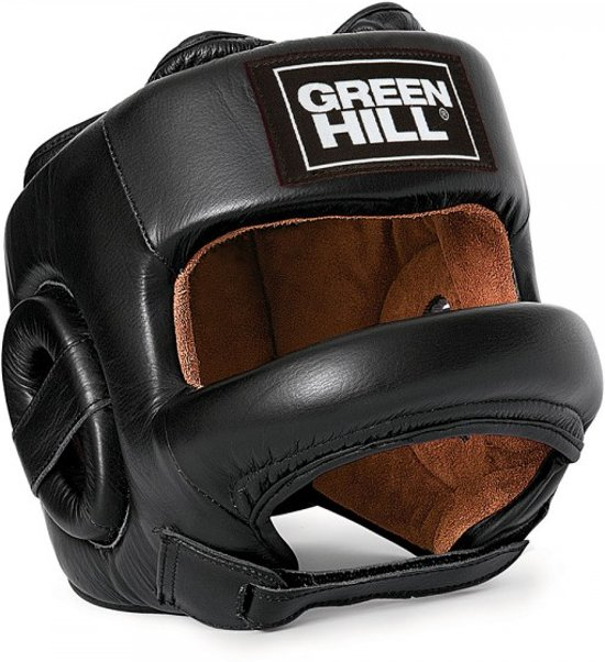 Green Hill Head Guard CASTLE Black-L