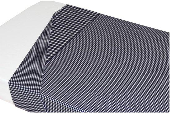 Taftan - Ledikantlakentje - Kleine ruit/Grote ruit - 120 x 150 cm - zwart