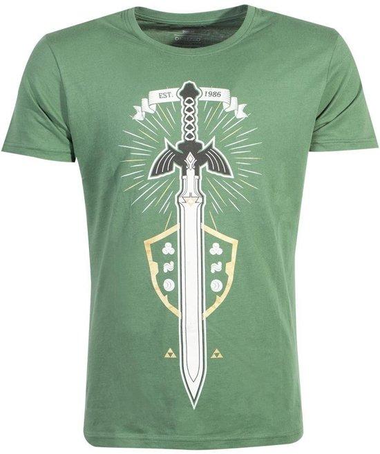 Nintendo Zelda Heren Tshirt -XL- The Master Sword Groen