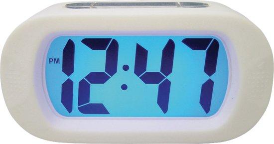 Balance Time LCD - Wekker - Rubber - Wit