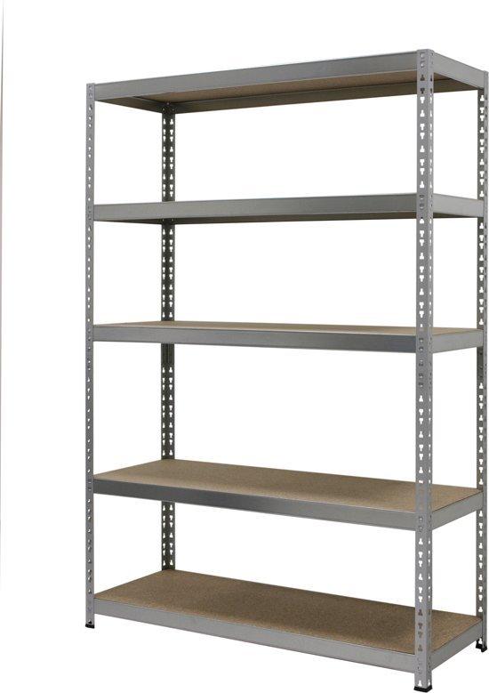 Opbergrek 120 Cm Breed.Sem Household Essentials Opbergrek Breed Staal Spaanplaat 120 X 45 X 180 Cm