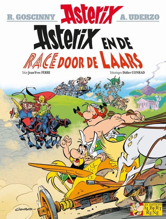 Boek cover Asterix 37. De race door de laars van Jean-Yves Ferri (Onbekend)