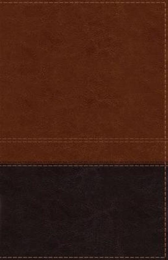 NIV, Reference Bible, Giant Print, Leathersoft, Brown, Red Letter Edition, Indexed, Comfort Print