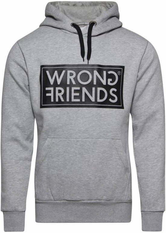 Wrong Friends Amsterdam Hoodie Grey/Black