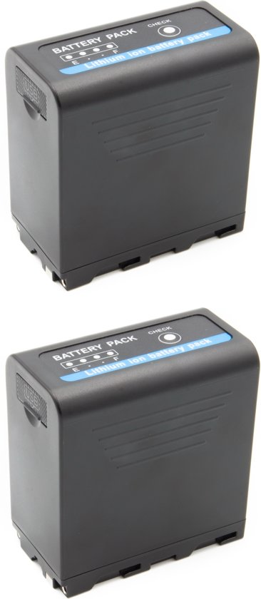 ChiliPower Sony NP-F970 / NP-F980U accu - Extra Power - 10.050mAh - met USB-in én USB-out - 2-Pack
