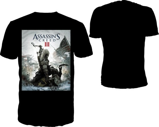 Merchandising ASSASSIN'S CREED 3 - T-Shirt Black - Game Cover (XL)